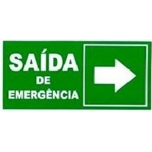 010300 F - Placa Saída De Emergência À Direita
