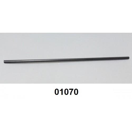01070 - Sifão fino barra com 3,00 m (6 mm x 10 mm) PVC preto
