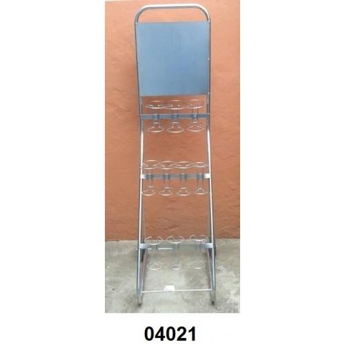 04021 - Carrinho expositor para 17 extintores