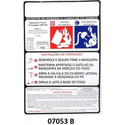 07053 B - Carreta Pó Indireta - Rótulo pó pressão indireta 20/30/50/70/100 kg