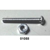01058 - Parafuso com porca para gatilho de válvula P1/P2