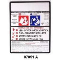 07051 A - Pó - Rótulo modêlo standard pó pressurizado 4/6/8/12 kg