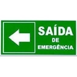 010300 E - Placa Saída  De Emergência À Esquerda