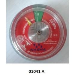 01041 A - Manômetro espiral 1.0 MPA Resil/Bucka/Extang/Fercam/Protege/Kidde