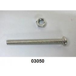 03050 - Parafuso c/porca p/cinta