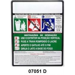 07051 D - AP - Rótulo modêlo standard água pressurizada 10 Lt