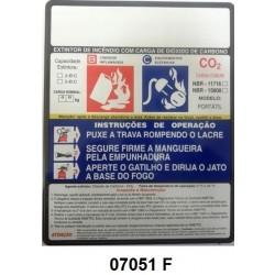 07051 F - CO² - Rótulo modêlo standard CO² 4/6 kg