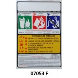 07053 F - Carreta Espuma Mecânica Indireta - Rótulo carreta Espuma Mecânica pressurização indireta 50 Lt