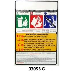 07053 G - Carreta Espuma Mecânica - Rótulo carreta Espuma Mecânica pressurização direta 50 Lt